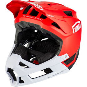 100% Trajecta Casque, red